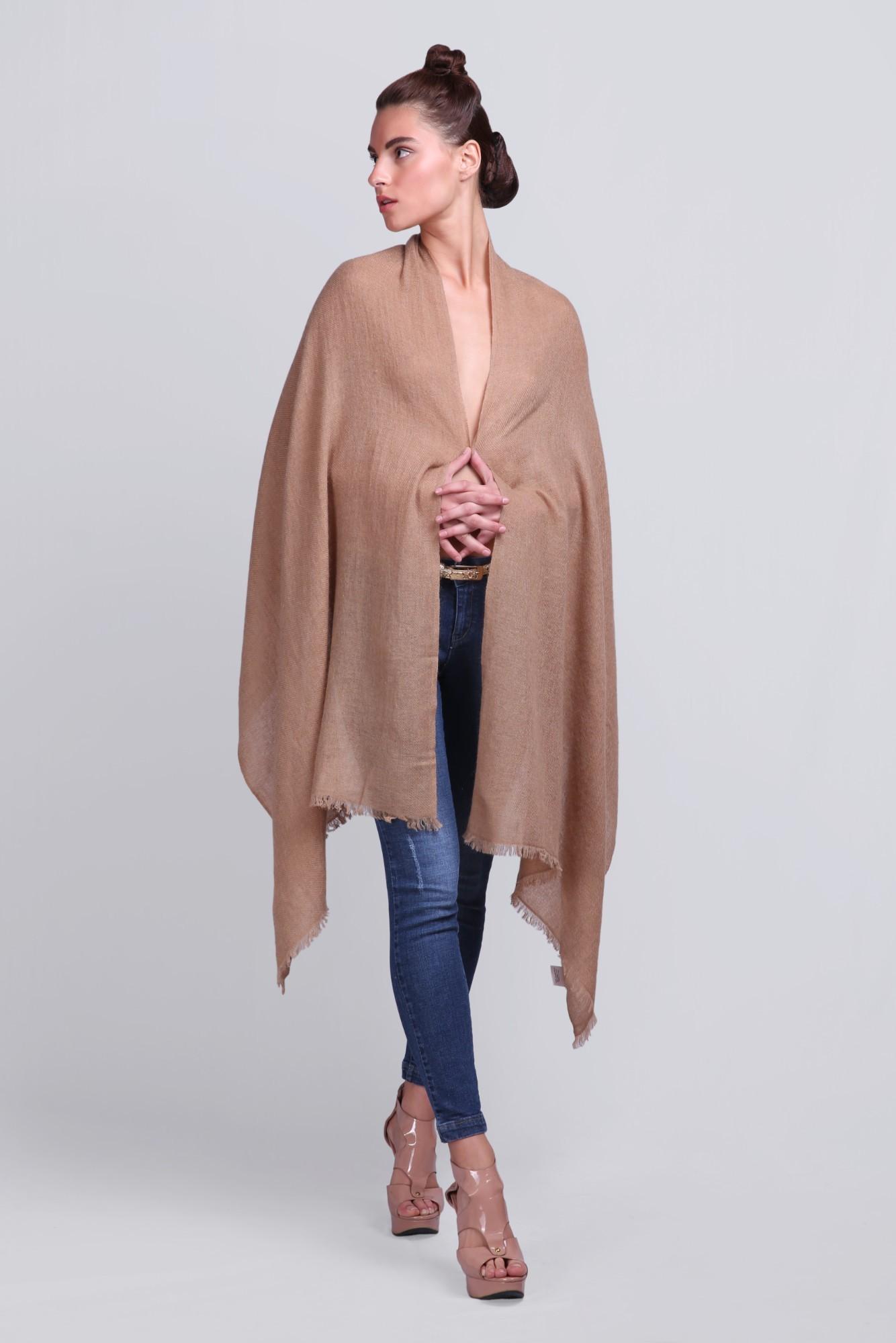 Luxury Scarves Plain Wool Solid - VS 2331 Camel